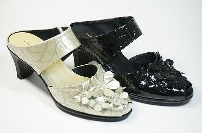 Shoes luxury Mule 10P23Sep15 Mule special yuriko Rakuten Mule hurt and flower 610 / leather black heels shoes-all season
