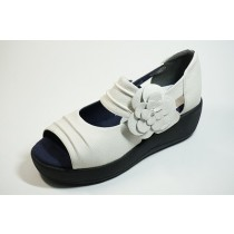 Ribbon undressing shoes-magic belt and shoes, leather heel pain shoes do not get tired