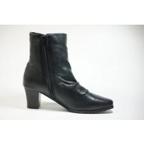 Japan-made boots low backlash hurt leather tired no shoes shoes Black Womens shoes yuriko matsumoto cute heels