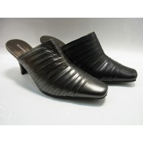 Black mules heels swimming elegance leather mules and their cod number included yuriko matsumoto