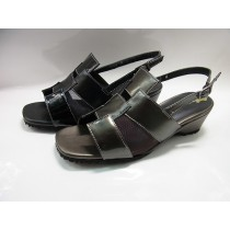 Fatigue hurt the patchily and tulle combination Sandals shoes shoes